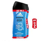 Adidas Gel douche Adidas After sport - 2x250ml