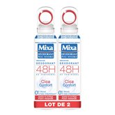 Mixa Déodorant  Cica confort - 2x150ml