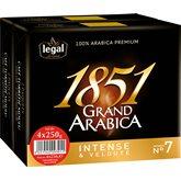 Legal Café moulu Legal Grand Arabica 1851 - 4x250g