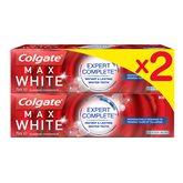 Colgate Dentifrice max white  Fresh - 2x75ml