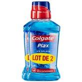 Colgate Bain de bouche  Plax Ice Splash 24h - 2x500ml