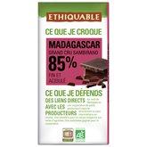 Ethiquable Chocolat noir  De Madagascar 100g