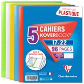 Clairefontaine Koverbook  - 96 p Grands carreaux - 17x22cm - x5