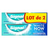 Signal Dentifrice  White Now Ice Cool - 2x75ml