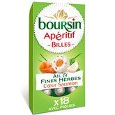 Boursin Fromage apéritif billes Boursin Ail,fines herbes, saumon 75g