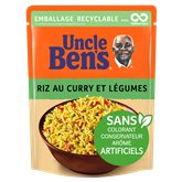 Uncle Ben's Riz express 2min Uncle Ben's Curry & légumes - 250g