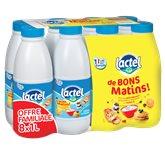 Lactel Lait Bons Matins  1/2 écrémé - 8x1L