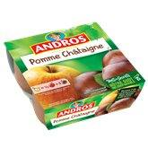 Andros Dessert fruitier  Pomme/chataigne - 4x100g