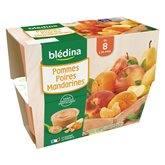 Blédina Purée de fruit  - 8 mois Pomme poire mandarine - 4x100g