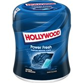 Hollywood Chewing-Gum Hollywood Menthe Forte Sans sucres - 87g