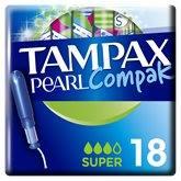 Tampax Tampons  Compak Pearl Super - x18