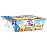 Nestlé Dessert P'tit Gourmant Nestlé Vanille  Dès 6 mois - 6x60g