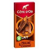 Côte d'Or Tablette de chocolat Côte d'Or Lait coeur coulant caramel 200g