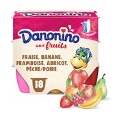 Danone Petits suisses Danonino Fruits panachés - 18X50g