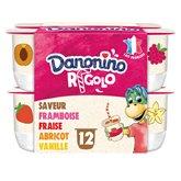 Danone Yaourt Danonino Rigolo Aromatisés Panaché - 12x125g