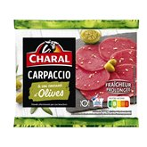 Charal Carpaccio Charal olives Viande bovine française-  230g