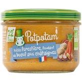 Potpotam Poêlée boeuf châtaignes bio Potpotam - 12 mois - 200g
