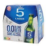 Lager Bière 0.0% 5 Lager Sans acool - 6x25cl