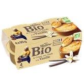 La Laitière Crème aux oeufs La Laitière Bio Vanille - 4x95g