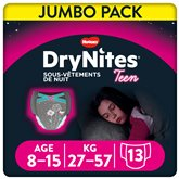 Huggies Culottes Drynites Fille 8-15ans 27-57kg - x13