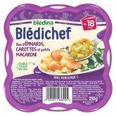 Blédina Blédichef Duo d'épinards Carotte macaroni 18 mois - 250g
