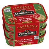 Connetable Sardine Connetable Piment huile d'olive - 3x135g